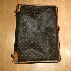 VINTAGE Louis Vuitton Luggage with Wheels